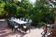 Terrasse Ferienhaus Fachwerk