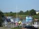 Blick auf den Gauensieker Hafen