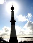Beleuchteter Leuchtturm Quelle: Athenaeum Stade Archivfoto